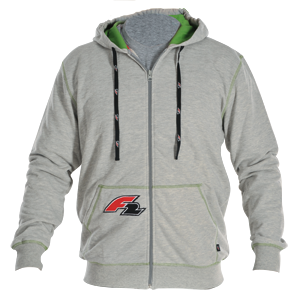 HOODED JACKET GREY
